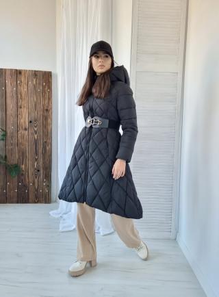 Bawełniana sukienka LENNY size+ szara