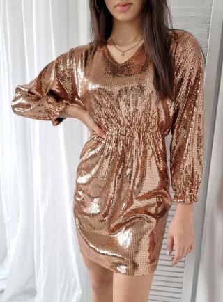 Sukienka z perełkami QUEEN czarny