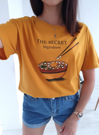 T-Shirt SECRET żółty