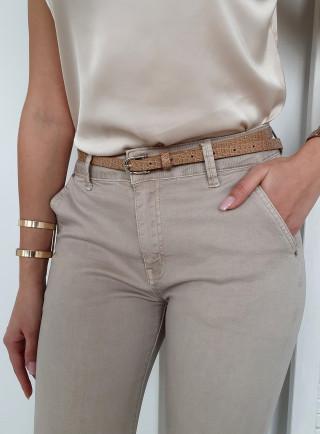 Spodnie CAMBIO beż size+