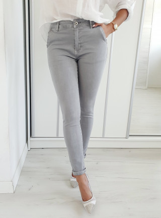 Spodnie CAMBIO szare size+