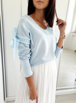 Sweter KORSA niebieski