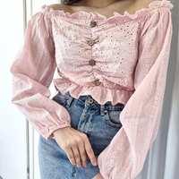 Bluzeczka VERONICA 🌸  Cena: 69 zł   #pudrowyroz #puder #pink #top #bluzka #bluzkahiszpanka #hiszpanka #guziki #jeans #fashionlover #lookoftheday #ootdfashion #polskamoda #polishwoman #styleinspiration #inspo