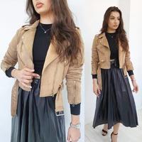 🖤  #ottanta #skleponline #stylish #klasyka #ramoneska #beige #plisowanaspodnica #black #zakupy #nowosci