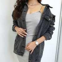 ⋆ Katana Long Madison ⋆ Zgodzicie się, że jeśli chodzi o katany jeansowe,  każda z Nas powinna posiadać chociaż jedną w swojej szafie 😃!   #jeansjacket #ottanta #grey #ootd #springiscoming #fashion #polishgirl