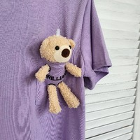 TEDDY BEAR IS COMING... 🐻  #teddybear #bear #zwierzak #mis #pluszak #zabawka #ubrania #fashionlover #comingsoon #soon #tshirt #viola #purple #fiolet #kolekcja #wyjątkowy #pluszowy #love #cute #cuteanimals