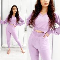 Komplety Miami 💗 Zobacz więcej kolorów na www.ottanta.pl  #miami #sweet #pink #dres #comodo #dzianina #brunette #completo #top