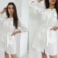- Sukienka Roma -  Bawełniana, przewiewna sukienka to coś co Wam się spodoba ! . Dostępna w czterech kolorach: białym, brązowym, beżowym i zielonym 😍 . #ottanta #ootd #fashion #spring #sunnyday #sukienka #polishgirl #shoponline #zakupy