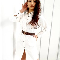 White denim ♡  #ottanta #skleponline #white #denim #jeans #sukienka #top #longhairstyles #zakupyonline